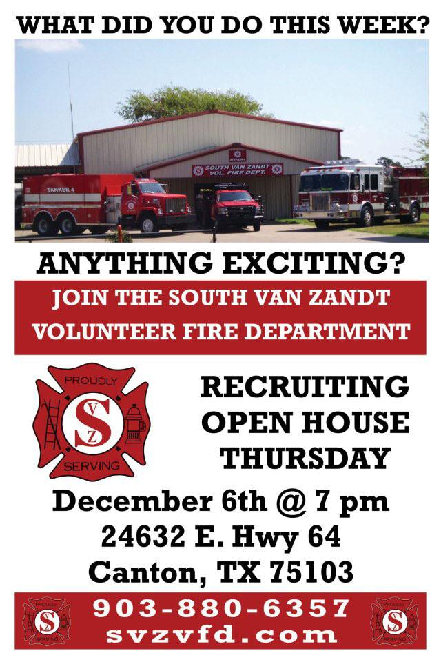 Www Svzvfd Org South Van Zandt Volunteer Fire Department